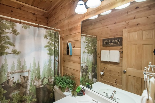 Shared 2nd Bathroom with Tub Shower Combination